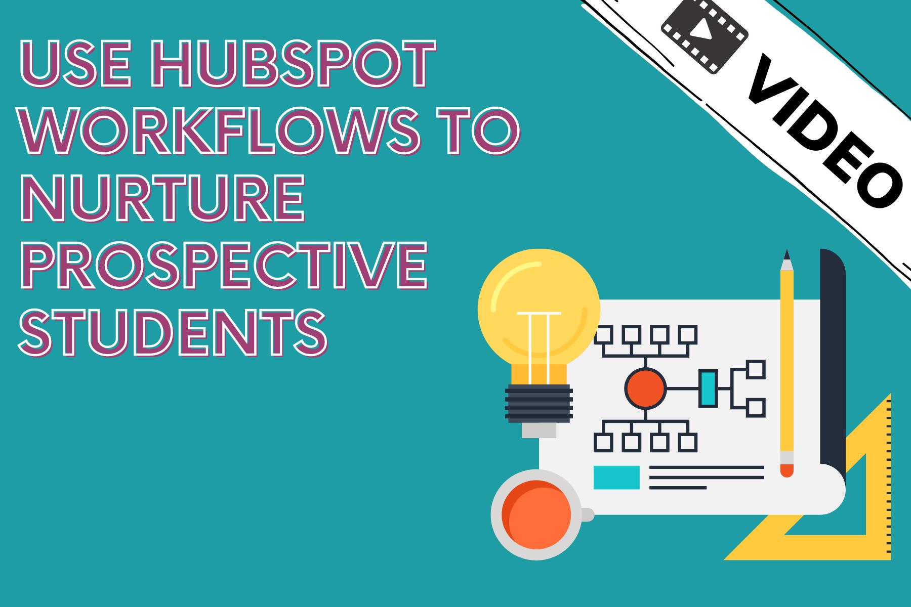 HubSpot workflow in education