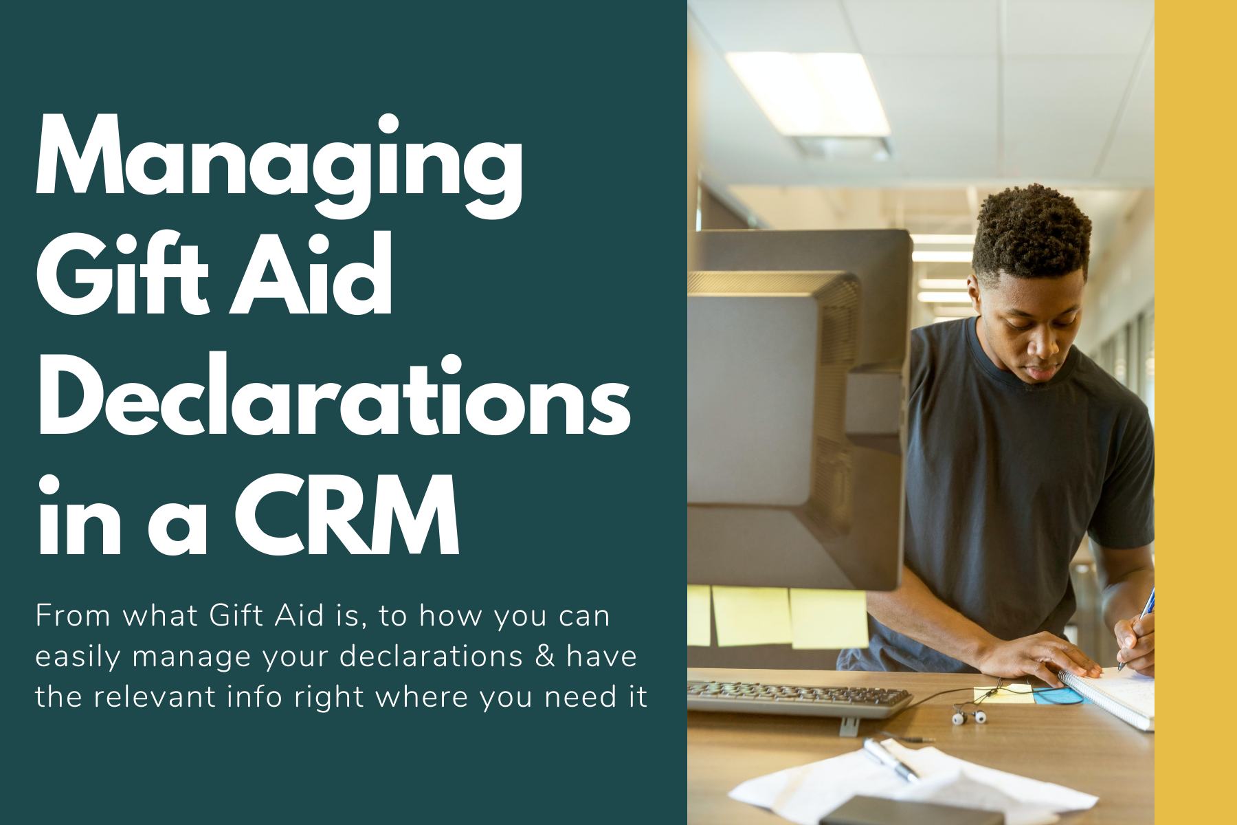 Managing Gift Aid Declarations in a CRM